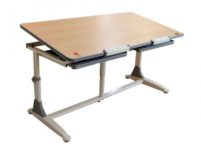 Comf-Pro Парта Twins DeskПарта Twins DeskComf-Pro Парта Twins Desk изготовлена из экологически чистого МДФ и отвечает стандарту Е0.   Все материалы конструкции стола не содержат вредных веществ.  Размеры: Ширина, см: 150 Глубина, см: 75 Max высота столешницы: 79 см. Min высота столешницы: 54 см. Регулировка высоты: Да Угол наклона: 0-17 град. Высота, см: 54 - 79<br>