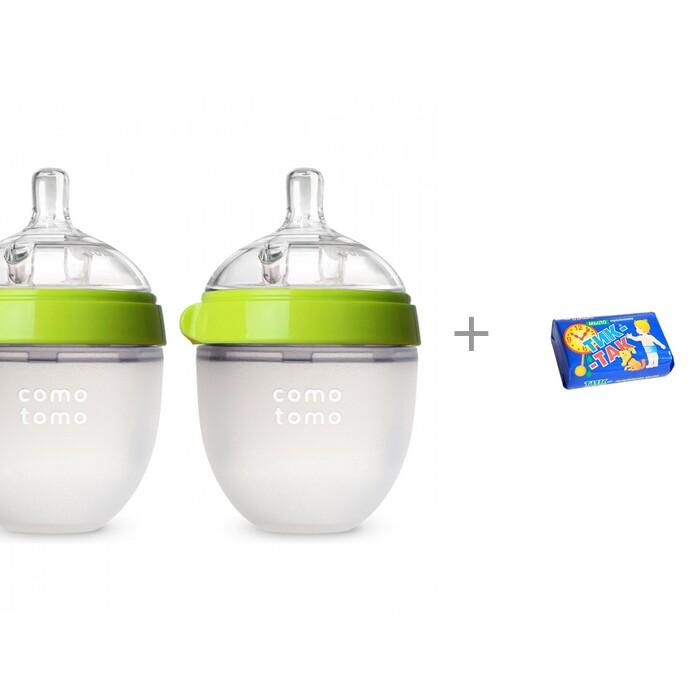 Купить Бутылочки, Бутылочка Comotomo Natural Feel Baby Bottle 0-3 мес. 150 мл 2 шт. и салфетки влажные L 20 шт. Manuoki