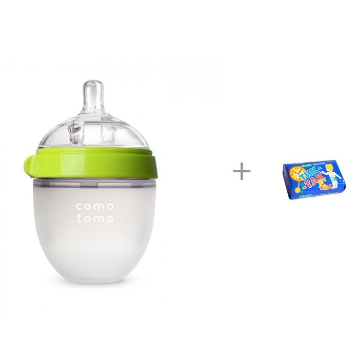 Купить Бутылочки, Бутылочка Comotomo Natural Feel Baby Bottle 150 мл и салфетки влажные L 20 шт. Manuoki
