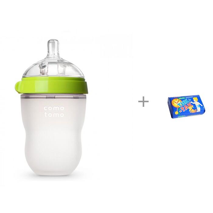 Бутылочка Comotomo Natural Feel Baby Bottle 3-6 мес. 250 мл и мыло Тик-так 150 г Свобода 1035859