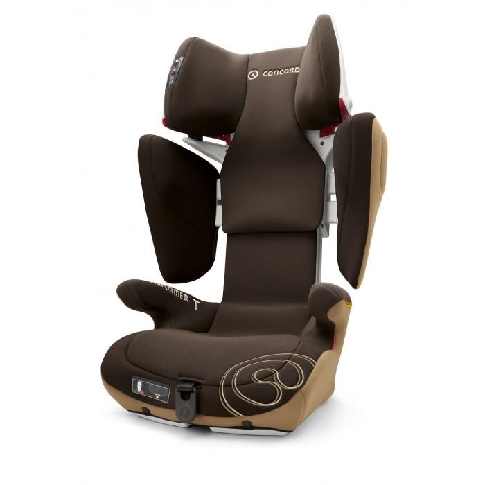Автокресло Concord Transformer TГруппа 2-3 (от 15 до 36 кг)<br>К этой модели автокресла Вы можете приобрести   Летний чехол Cooly   Автокресло Concord Transformer T имеет встроенный пневмопривод. Благодаря чему изменение высоты и ширины кресла осуществляются очень плавно - нажатием на соответствующую кнопку. Объемные боковины обеспечивают максимальную защиту ребенка, а мягкие большие подлокотники создают дополнительный комфорт.  Особенности:  кресло соответствует Европейскому стандарту безопасности ECE R 44/04  предназначено для детей весом от 15 до 36 кг (возраст от 3 до 12 лет)  уникальная система VARIOSIZE это одновременная и плавная регулировка высоты подголовника, и высоты и ширины плечевых защитных элементов с помощью нажатия одной кнопки  ДВУХСЛОЙНАЯ СИСТЕМА ЗАЩИТЫ ОТ УДАРА использование двухслойного каркаса обеспечивает повышенную и оптимальную защиту от возможного бокового удара  полностью закрытый корпус это максимум безопасноти и защиты в случае бокового удара  НАПРАВЛЯЮЩАЯ РЕМНЯ открывается нажатием кнопки, автоматическое закрывание  концепция TRIZONE в обшивке автокресла используется несколько видов материи с учетом функциональности каждого элемента автокресла. Обшивка области подголовника выполнена из особо мягкой и пушистой ткани, при соприкосновении с которой малышу будет приятно и комфортно. Обшивка в нижней части и на спинке автокресла выполнена из ткани напоминающей кожу, устойчивой к трению. Наружные детали сидения, подверженные внешним воздействиям, изготовлены из прочного пластика  каркас сиденья эргономичной формы, регулируется индивидуально для Вашего малыша  идеальный наклон сиденья для комфортного бодрствования и сна тканевые детали снимаются для стирки и чистки, пластиковые поверхности легко моются.  установка по ходу движения автомобиля  возможность установки на заднее и переднее сидение автомобиля при отключенной подушке безопасности  оснащено американской системой LATCH - ременная система IsoFix  возможность установки при помощи штатных