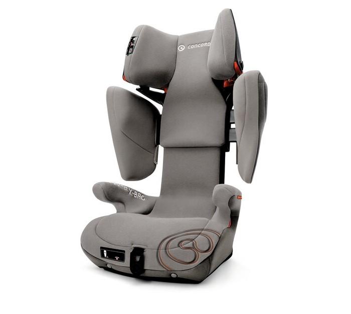 Автокресло Concord Transformer X-BagTransformer X-BagАвтокресло Concord Transformer X-Bag прошло все необходимые испытания, в том числе и боковой краш тест. Материалы обивки крайне приятны на ощупь и прекрасно пропускают воздух. Кресло Concord Transformer X-Bag позволяет при помощи одной кнопки регулировать высоту подголовника и ширину боковин. Регулировка высоты и ширины производится в очень широком диапазоне ( в отличии от всех конкурентов). Регулировка высоты позволяет усадить ребенка ростом до 145 см, а в ширину кресло достигает 38 см ( внутри, в плечах). Регулировка данных параметров одновременная и имеет 20 положений. Большое количество положений позволит очень точно подбирать размеры кресла под конкретного ребенка.  В этом кресле ребенок будет одинаково хорошо защищен, что в 5, что в 12 лет. Кресло крепится в автомобиле на заднем сиденье, по ходу движения. Фиксация производится при помощи системы ISOFIX или на штатные ремни заднего сиденья, ремни должны быть трехточечными. Система фиксации кресла также совместила и с автомобилями из Америки, где используется система крепления Latch.  Не зависимо от способа крепления кресла, ребенка удерживает штатный ремень автомобиля, который проходит под подлокотниками и в специальной направляющей в подголовнике. При правильном подборе высоты подголовника, ремень выйдет ровно на плечо ребенка, и он не будет задевать на лицо.   Кресло X-Bar прошло, все необходимые испытания и получило сертификат соответствия европейским нормам – ECE R044/04. В России получен сертификат соответствия техническому регламенту ( ранее РосТест), как детское удерживающее устройство.   Все материалы обивки можно снять для стирки или чистки. Ткань хорошо пропускает воздух, что позволяет поддерживать оптимальную температуру в любое время года.   Особенности TwinFix: Карабины Isofix на ремешках, что повышает удобство установки автокресла в автомобиль, а так же снижает его вес. Triple Layer Impact Protection: три слоя поглощяющего материала для обеспече