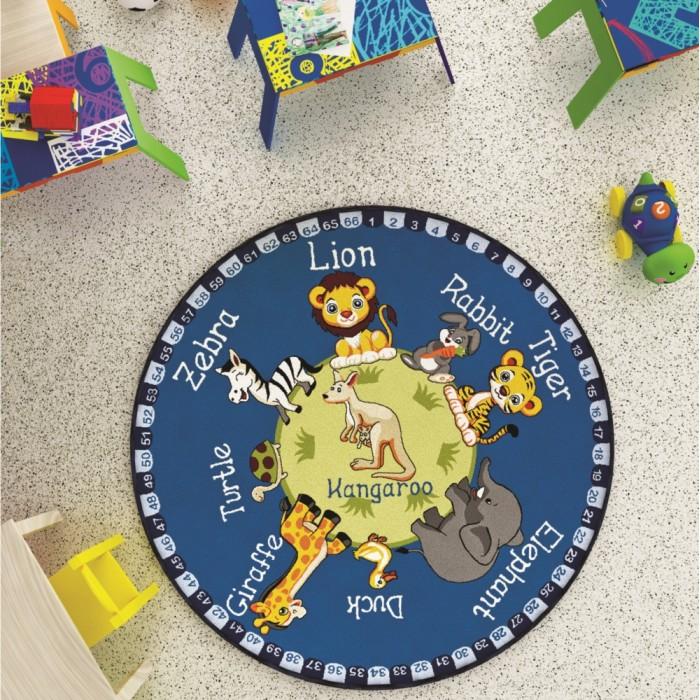Детские ковры Confetti Kids Коврик Rugs Animal Planet 3мм 133 см, Детские ковры - артикул:479596