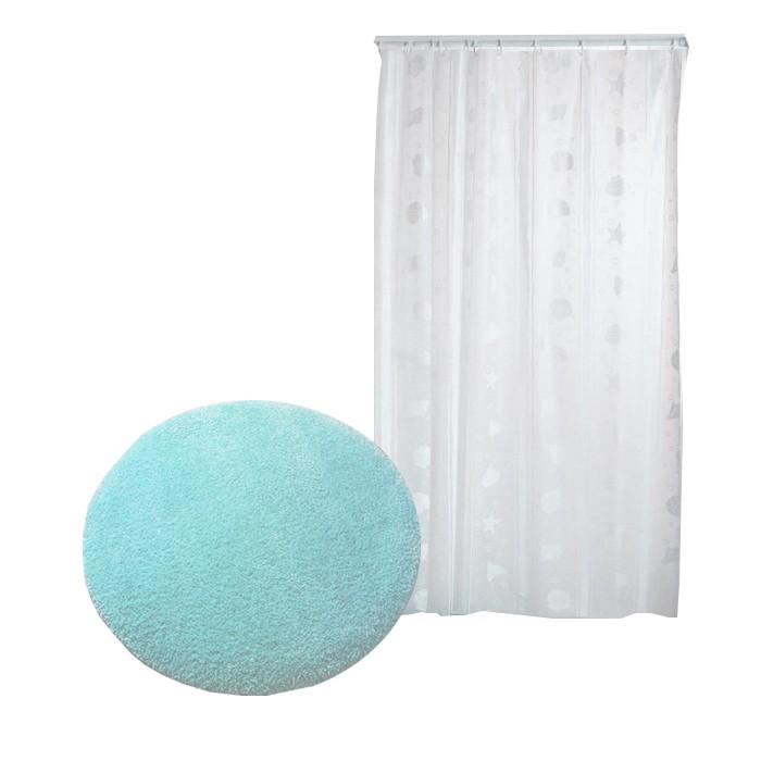Аксессуары для ванн Confetti Miami Коврик для ванной комнаты со шторкой Aqua-Prime 799D1