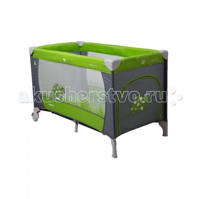 Манеж Coto Baby Samba ProsteSamba ProsteМанеж CotoBaby Samba Proste предназначен для новорожденных и детей до 4 лет. Модель выделяется простой конструкцией и простотой в использовании, что делает ее хорошим выбором для родителе,которые любят путешествовать вместе с малышом.  Особенности: Модель оснащена двойным замком, который защищает манеж от самопроизвольного складывания Лаз-вход позволит вашему ребенку легко вылезти из кроватки  Складная конструкция Дополнительные элементы: карман для вещей, сумка, матрас.<br>