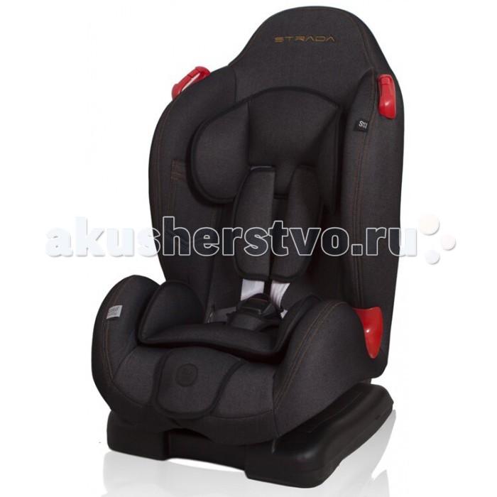 Автокресло Coto Baby Strada JeansStrada JeansДетское автокресло Coto Baby Strada Jeans предназначено для детей весом от 9 до 25 кг, для обеспечения безопасности детей возрастом примерно с 9 месяцев до 6 лет. Кресло имеет 3-точечную регулировку угла. В кресле имеются дополнительные опоры для головы и направляющие полосы для защиты таза ребенка.  Особенности: 5-точечные ремни безопасности Крепежные детали для легкого и безопасного монтажа автокресла Дополнительная направляющую ремня, защищают таз ребенок Дополнительный подголовник стабилизации головы ребенка Дополнительные стельки для детей 3 позиции наклона Свидетельство о ECE R44 / 04 Внешние габариты кресла: 47 х 73 х 45 см Размеры сиденья: ширина - 27 см, глубина - 30 см Вес: 7,2 кг<br>