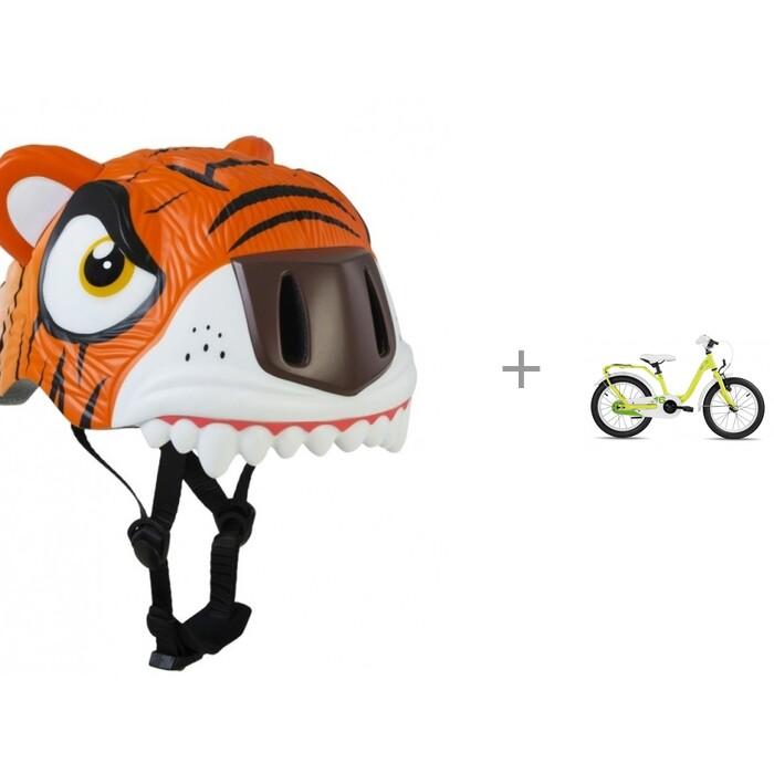 Купить Шлемы и защита, Crazy Safety Шлем Tiger 2017 и детский велосипед Scool niXe 16 steel