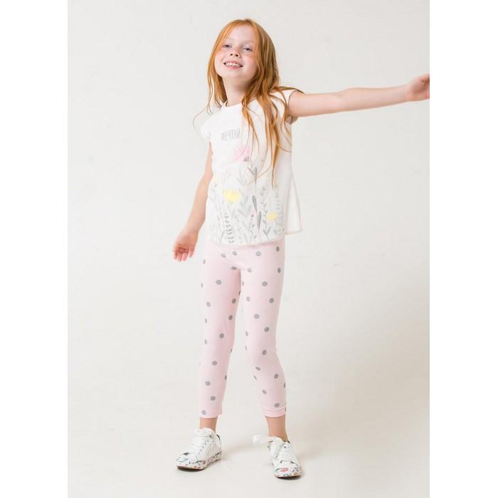Брюки и джинсы Crockid Бриджи для девочки Горошек