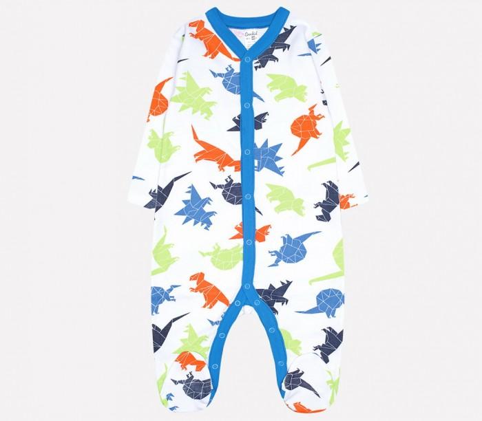 Купить Боди, песочники, комбинезоны, Crockid Комбинезон для мальчика Динозавры К 6025