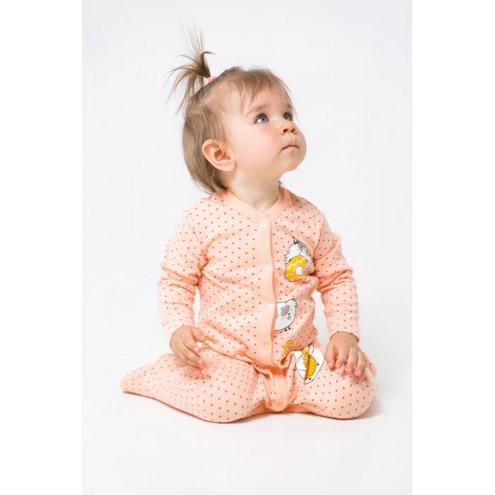 колготки для девочки barkito серые с рисунком в горошек Боди, песочники, комбинезоны Crockid Комбинезон ясельный для девочки Горошек