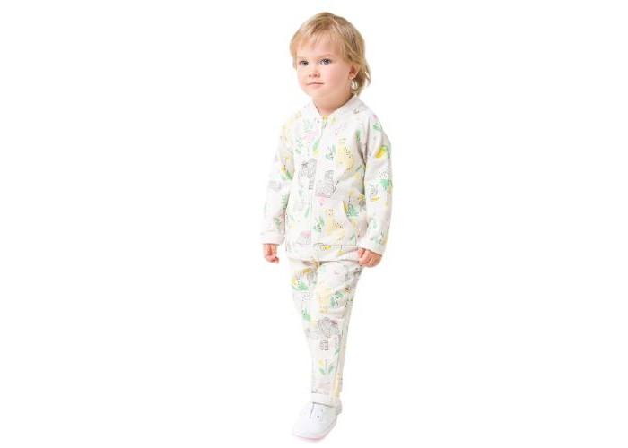 Crockid  Комплект для девочки (бомбер, брюки) Слоники КР 2743