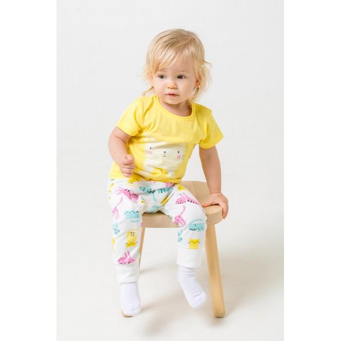 Комплекты детской одежды Crockid Комплект для девочки (футболки и брюки) Котята К 2737
