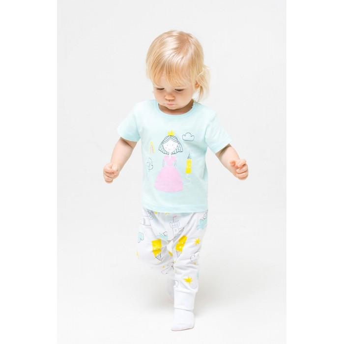 Комплекты детской одежды Crockid Комплект для девочки (футболки и брюки) Замок принцессы К 2737