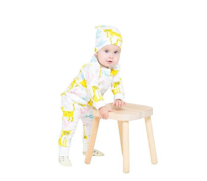 Crockid  Комплект для девочки: Лонгслив и штанишки Леопарды