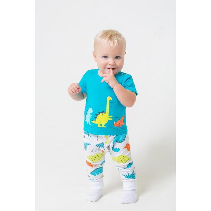 Комплекты детской одежды Crockid Комплект для мальчика (футболки и брюки) Динозавры К 2737