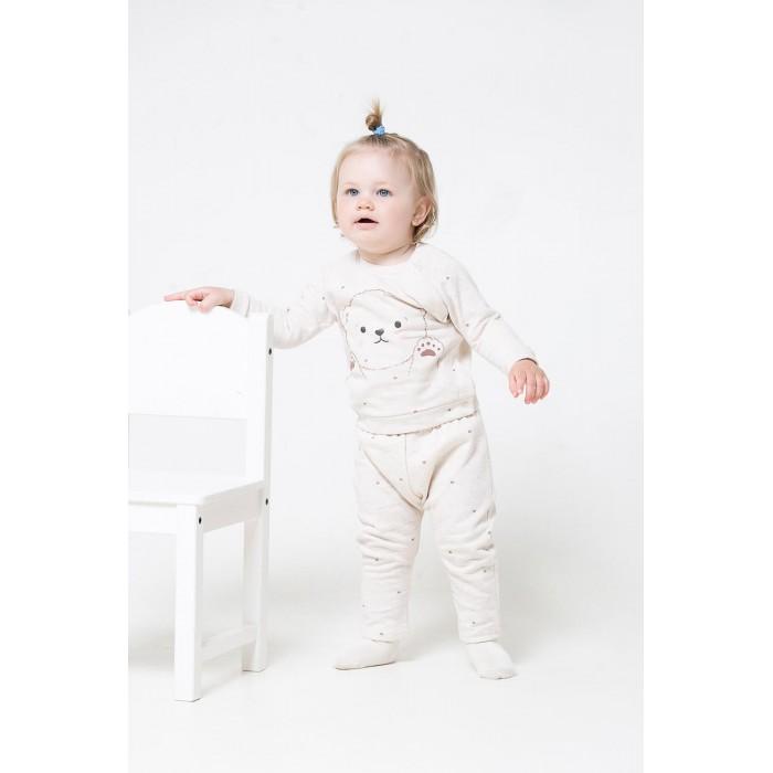 Купить Комплекты детской одежды, Crockid Комплект ясельный для девочки Белый мишка