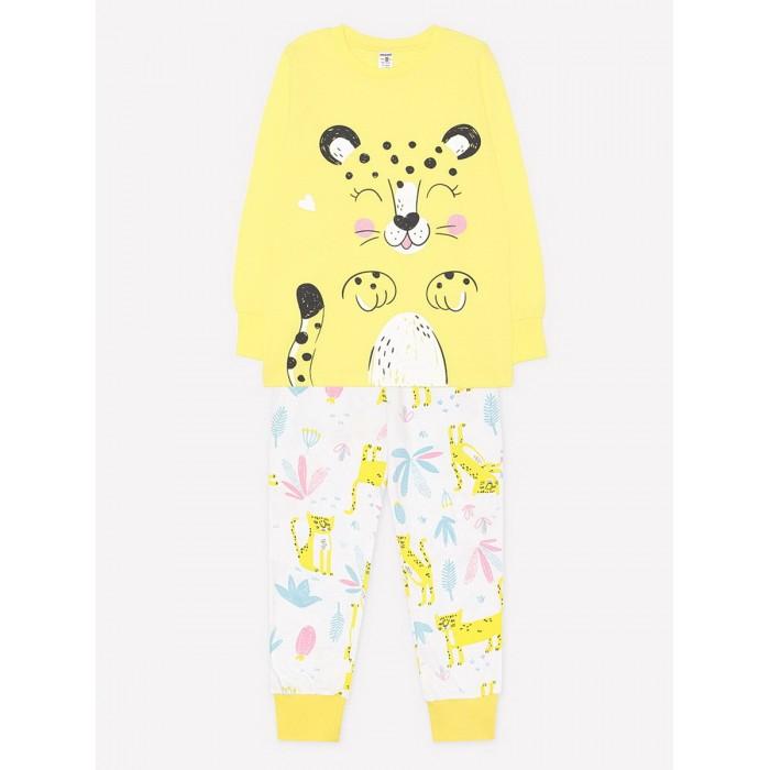 Купить Домашняя одежда, Crockid Пижама для девочки Леопард (джемпер и брюки)