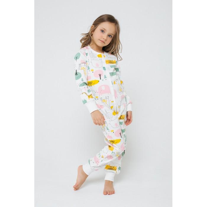 Домашняя одежда Crockid Пижамный комбинезон для девочки Звери африки