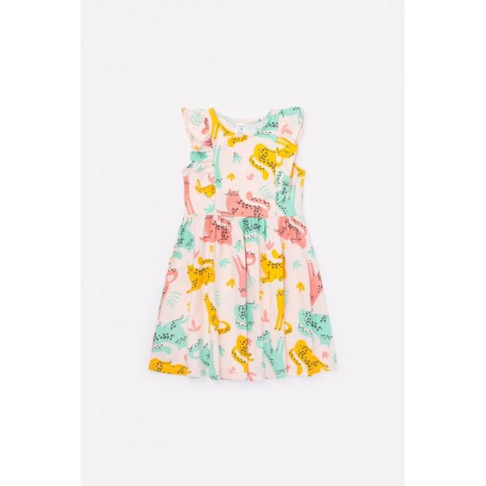 Crockid  Платье для девочки Леопарды К 5690