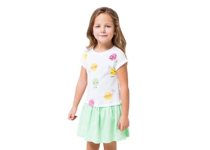 Платья и сарафаны Crockid Платье для девочки Смайлики платье miss istanbul платья и сарафаны мини короткие