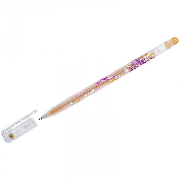 Фото - Канцелярия Crown Ручка гелевая с блестками Glitter Metal Jell 1 мм ручка гелевая action набор 12 цветов с блестками и ароматом фруктов 0 5мм блистер с европодвесом