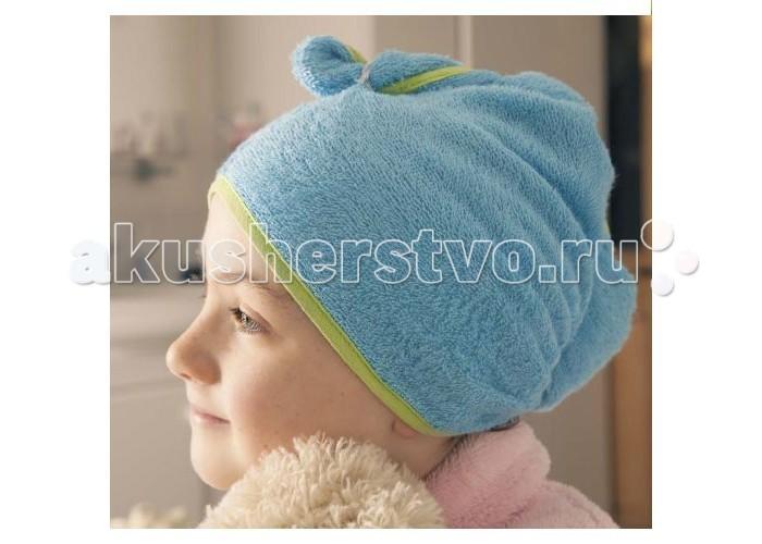 Полотенца CuddleDry Полотенце для волос с окантовкой Горошек полотенца cuddledry накидка с капюшоном для малышей горошек