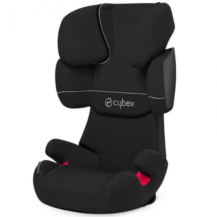 Автокресло Cybex Solution XSolution XАвтокресло относится к группе 2/3 и может быть использовано для перевозки ребенка с 3,5 до 10-12 лет.   Кресло устанавливается только по направлению движения (лицом вперед). Крепление - штатными 3-х точечными ремнями безопасности автомобиля.  Для максимального комфорта кресло имеет запатентованный подголовник, который регулируется в 3-х положениях.  Подголовник регулируется по высоте в 11 положениях.  Положение спинки регулируется по наклону в зависимости от угла наклона спинки в вашем автомобиле.  Дополнительный ящик для хранения инструкции позволит всегда держать её под рукой.  По мере роста ребенка автокресло превращается в бустер.  Автокресло соответствует последнему стандарту безопасности ECE R44/04.  Обивка автокресла съемная и может стираться в стиральной машине в режиме Бережная стирка при температуре 30 градусов. Процесс съема чехла с автокресла занимает очень мало времени - чехол закрепляется кнопками и резинками.    Размеры автокресла (внешние): • глубина 45 см; • ширина 47 см; • высота 66 - 82 см.  Вес 5.7 кг.  Размеры и вес упаковки: • размеры: 60 х 40 х 45 см. • вес 7.2 кг   Размеры посадочного места: • ширина от подлокотника до подлокотника 35 см; • ширина между левой и правой плечевой защитой 35 см; • высота от сиденья до нижнего края подголовника (уровень плеча ребенка): в нижнем положении 31 см, в верхнем 48 см; • высота от сиденья до самой верхней части подголовника в верхнем положении 73 см.  Отличие модели Cybex Solution X от Solution X2 - Solution X2 оборудовано дополнительной защитой от боковых ударов - системой L.S.P.<br>