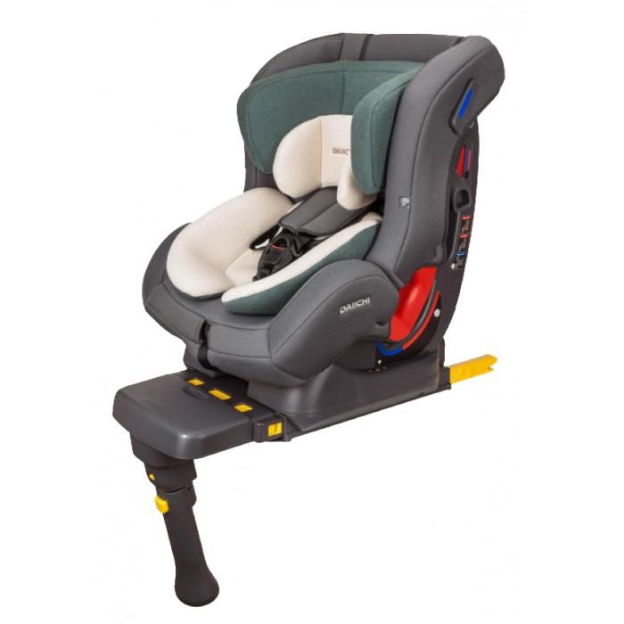 Автокресло Daiichi First 7 IsofixFirst 7 IsofixАвтокресло Daiichi First 7 Isofix – это универсальное детское кресло с широким возрастным диапазоном и большим углом наклона спинки. Уникальный, трансформируемый, внутренний вкладыш позволяет перевозить новорожденных малышей. Кресло обладает завидными внутренними размерами, что упрощает перевозку крупных детей и детей в зимней одежде. Встроенные ремни увеличенной длины рассчитаны на детей до 7 лет. Автокресла от компании Daiichi относятся к премиум сегменту, но при его можно купить по низкой цене, мало того, аналогов на рынке просто нет.  Автокресло считается универсальным, т.к. рассчитано на детей от рождения до 6-7 лет и относится к группе 0+/1/2. Рассчитано на детей ростом до 125 сантиметров и весом до 25 килограмм.  Автокресло Daiichi First 7 устанавливается на заднем сиденье, как против хода, так и по ходу движения, в зависимости от роста и веса ребенка. Крепление автокресла в салоне осуществляется при помощи системы Isofix или штатных ремней. Независимо от направления установки доступны оба способа фиксации. Дополнительная регулируемая ножка увеличивает устойчивость кресла.  Серия Organic - элементы чехла светло-бежевого цвета изготовлены из натурального хлопка, цвета Oragic Tangerine и Organic Black, элементы чехла других цветов из фирменного материала CoolEver. Серия Basic - все элементы чехла изготовлены из фирменного материала CoolEver, цвета: Sky Blue, Burgundy, Lime Green, Mustand.  Сидение: каркас - упрочненный пластик обивка - органический хлопок/Aerocool возраст с рождения до 7 лет (0-25 кг) рост до 125 см анатомическая подушка внутренние ремни пятиточечные мягкие накладки на внутренние ремни регулировка наклона - 4 положения регулировка высоты подголовника - 7 положений защита от боковых ударов съемный чехол съемный внутренний вкладыш для новорожденных  Крепление: режим Baby: группа 0+: вес: 0 – 13 кг, возраст: от 0 до 12 – 15 мес - установка автокресла против хода движения автомобиля защитит голову ребе