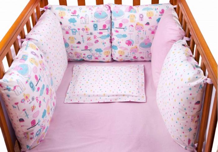 Бортик в кроватку Daisy Девочки 6 подушек