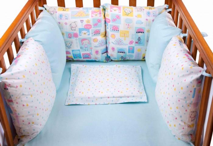 Бортик в кроватку Daisy Дракончик 6 подушек