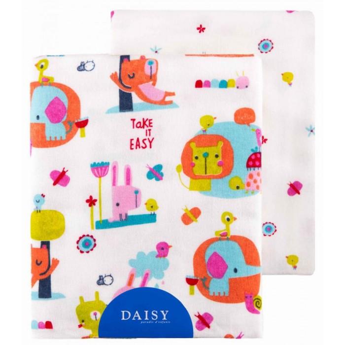 Пеленки Daisy фланель 90х145 2 шт. пеленки daisy пеленка дракончик 4 шт