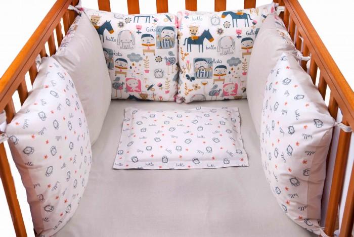 Бортик в кроватку Daisy Лошадки 6 подушек