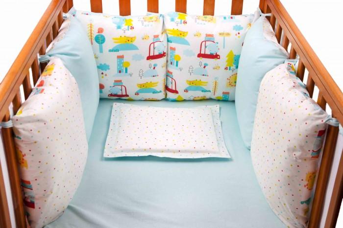 Бортик в кроватку Daisy Машинки 6 подушек