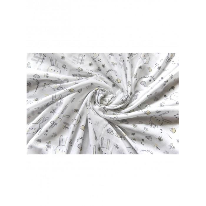 Картинка для Пеленки Daisy Design Муслиновая Зайчата 130х130 см