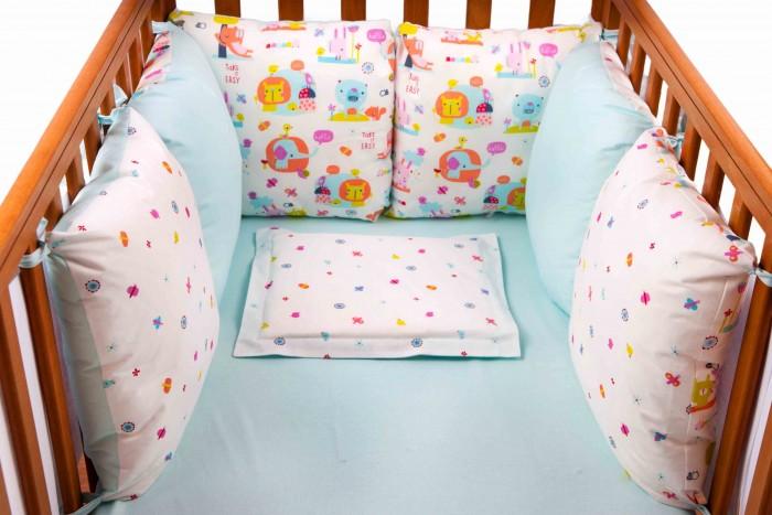 Бортик в кроватку Daisy Слоники 6 подушек