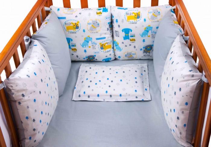 Бортик в кроватку Daisy Собачки 6 подушек