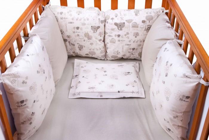 Бортик в кроватку Daisy Улитки 6 подушек