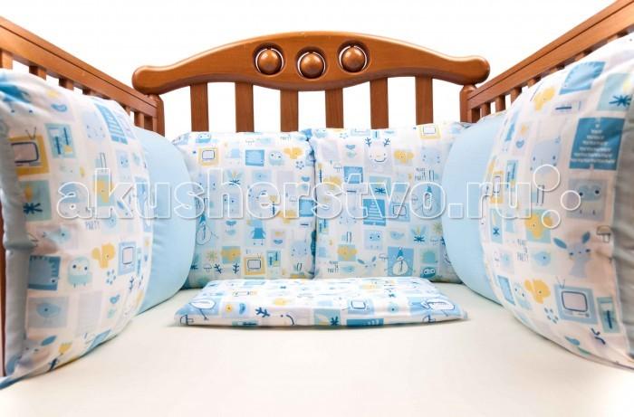 Бортики в кроватку Daisy Комплект подушек для бампера Мультяшки 2 шт. бампера на приору в ростове