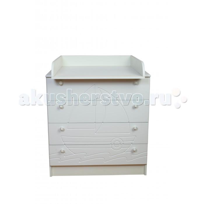 Детская мебель , Комоды Daka Baby Кораблик 80/4 пеленальный (4 ящика) арт: 310419 -  Комоды