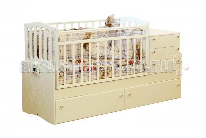 Кроватка-трансформер Daka Baby Укачай-ка 03 поперечный маятник