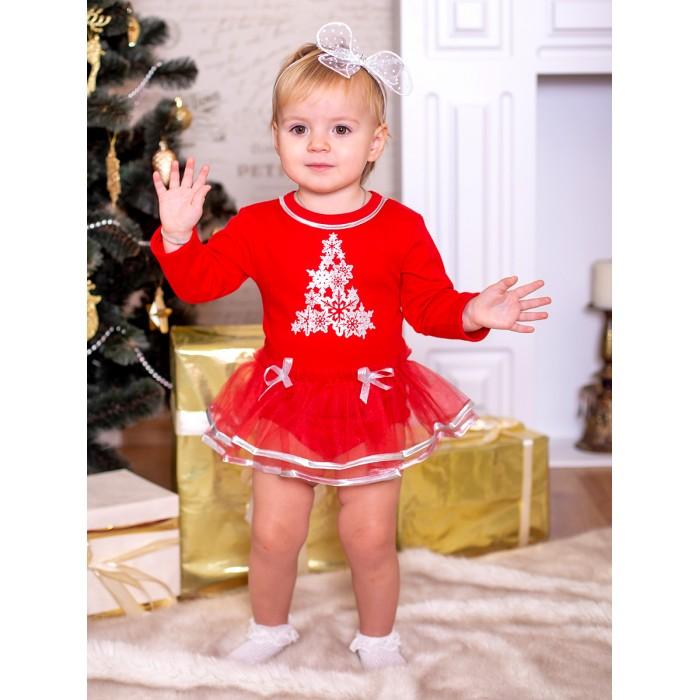 Дашенька Боди-платье новогоднее Елочка 1460/018 от Дашенька