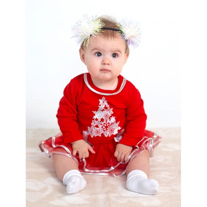 Дашенька Боди-платье новогоднее Елочка от Дашенька