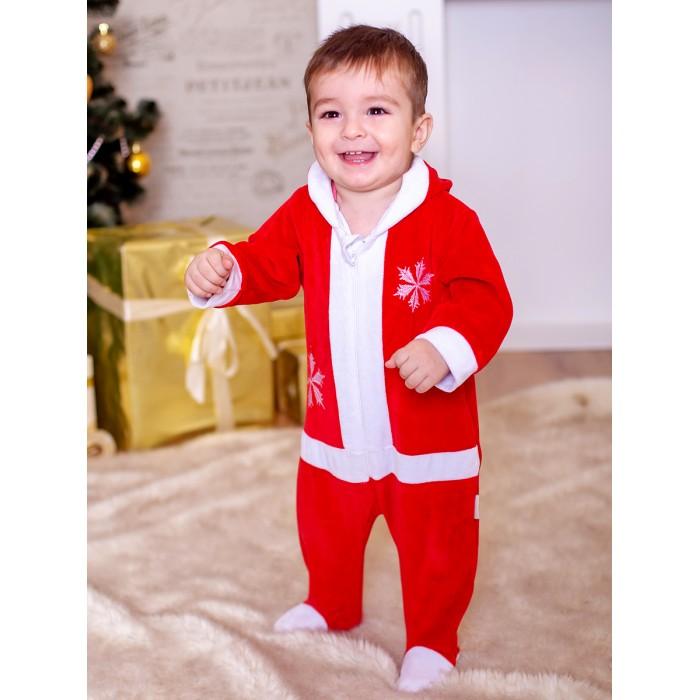 Картинка для Дашенька Комбинезон с капюшоном Дед Мороз