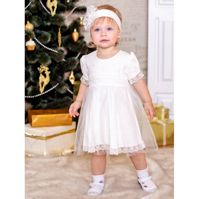 Платья и сарафаны Дашенька Комплект нарядный для девочки (платье, повязка)