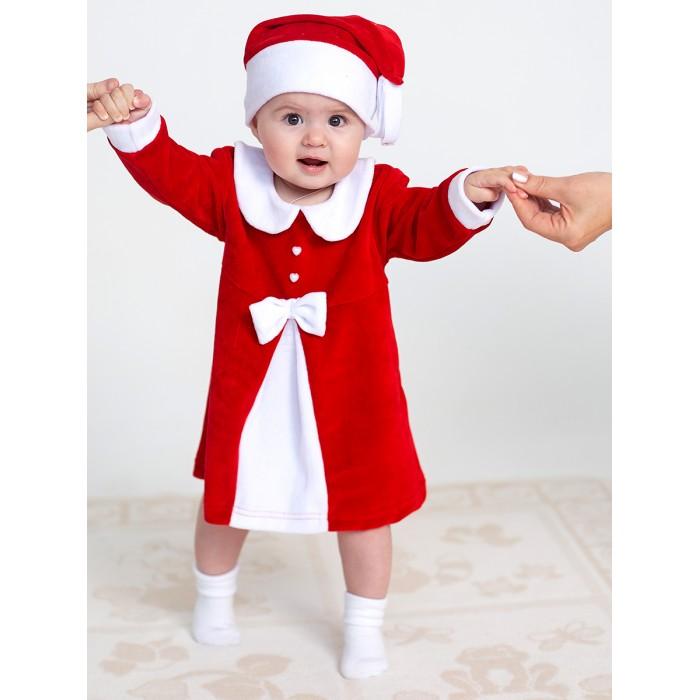 Картинка для Дашенька Комплект новогодний для девочки (платье, колпачок)