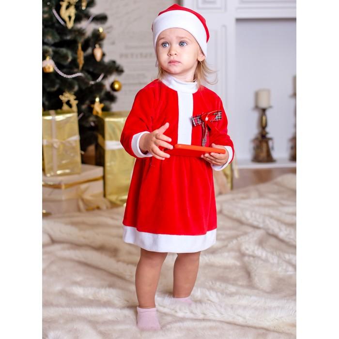 Картинка для Дашенька Комплект новогодний с бантом для девочки (платье, колпачок)