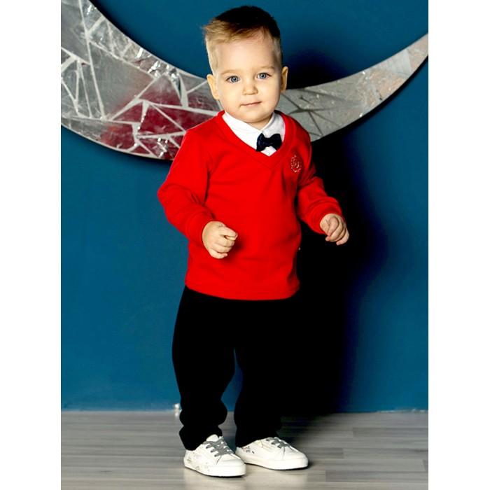 Дашенька Костюм нарядный для мальчика (брюки, джемпер, футболка-поло) фото