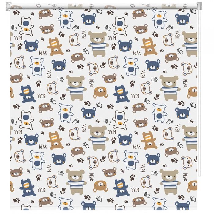 Купить Шторы, Decofest Рулонная штора Принт Мишки Мини 70x160 см