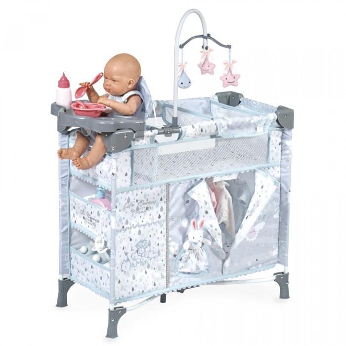 Кроватка для куклы DeCuevas манеж-игровой центр Мартин 70 см