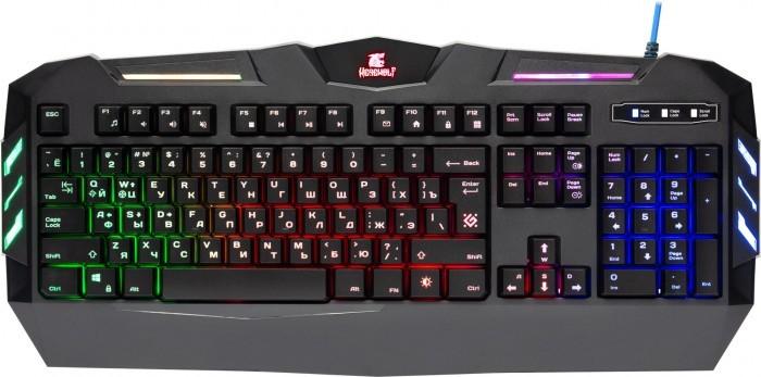 Аксессуары для компьютера Defender Клавиатура игровая с подсветкой Werewolf GK-120DL